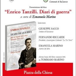 """ENRICO TANZILLI, DIARI DI GUERRA"" A CAPRILE DI ROCCASECCA"