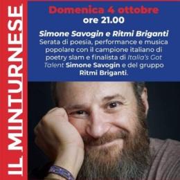 Simone Savogin e Ritmi Briganti a Minturno