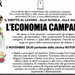 Il 2 Novembre a Napoli ci sarà il 'funerale' di tutte le categorie economiche colpite dalle norme anti-Covid