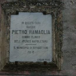 CENNO NECROLOGIGO DEL PROF. PIETRO RAMAGLIA MEDICO DI FERDINANDO II
