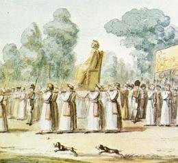 La Dea Ragione contro la Vergine Maria di Alfredo Saccoccio