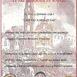 LE TRE GIORNATE DI NAPOLI (21-22-23 GENNAIO 1799)