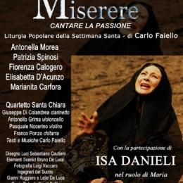 Il Canto di Virgilio presenta In occasione della Pasqua 2021 Miserere – Cantare la Passione di Carlo Faiello con Isa Danieli