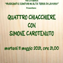 """""""Quattro chiacchiere con Simone Carotenuto"""" a suon…… di Tammurriata"""
