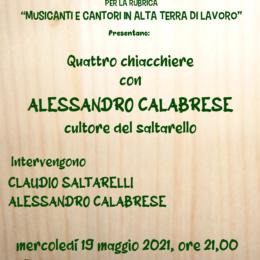 """""""QUATTRO CHIACCHIERE CON ALESSANDRO CALABRESE CULTORE DEL SALTARELLO"""""""