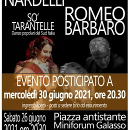 """""""SO TARANTELLE"""" CON SILVIA NARDELLI E ROMEO BARBARO A SANT'ANDREA SUL GARIGLIANO"""