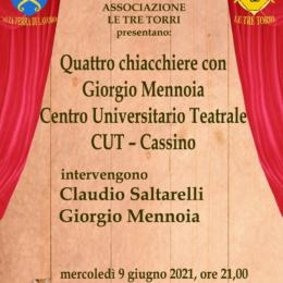 Quattro chiacchiere con Giorgio Mennoia del Cut, Centro Universitario Teatrale di Cassino