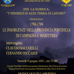 1798-1799, Le Insorgenze nella Provincia Pontificia di Campagna e Marittima