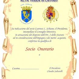 CONFERIMENTO NOMINA A SOCIO ONORARIO DELL'ASS.ID.ALTA TERRA DI LAVORO