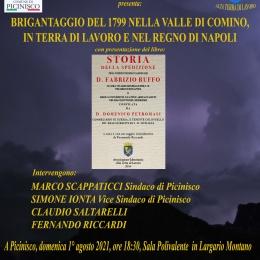 """""""BRIGANTAGGIO DEL 1799 NELLA VALLE DI COMINO, IN TERRA DI LAVORO E NEL REGNO DI NAPOLI"""" A PICINISCO"""
